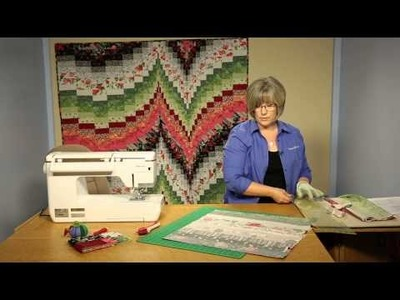 """How To Make Quilting Quickly's  """"Fire and Ice""""  Bargello Quilt"""