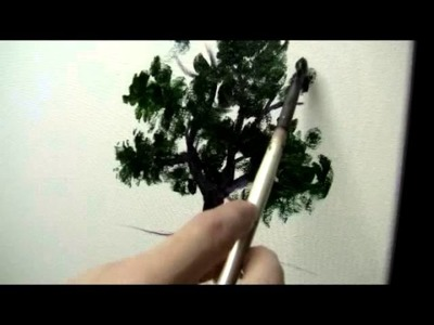 How to Paint a Simple Tree - Acrylic Painting Lesson
