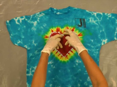 Jacquard Products Presents: Tying and Dyeing the Centered Rainbow Heart (Pt.5)