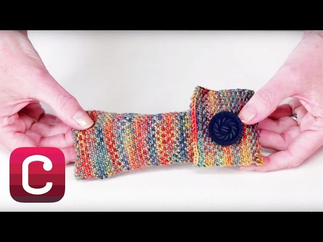 Knit a Linen Stitch Glasses Case with Wendy Bernard | Creativebug
