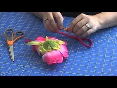 Make A Flower Skinny Stretch Headband by HairHardware.com