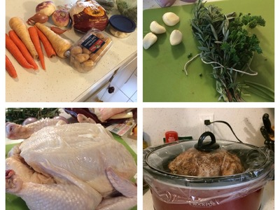 My First Time: Making a crockpot roasted chicken and root vegetables | Babybellykelli