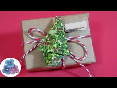 Origami: Christmas Tree 2015 Easy Crafts & Ornaments making with paper  Mathie