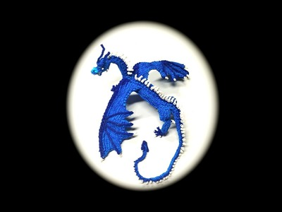 Part 9.10 Rainbow Loom Saphira from Eragon, Adult