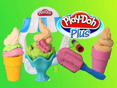 Play-Doh Plus Ice Cream Sundae Cart Popsicle, Ice-Cream, Mint Play Doh Sweet Shoppe Ice Cream Cone