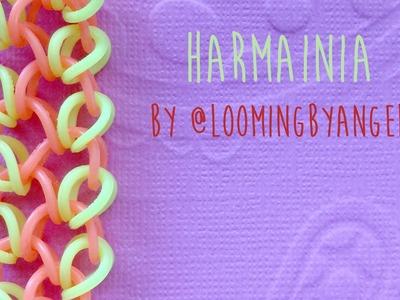 Rainbow Loom Bands Harmania by @LoomingByAngel Tutorial