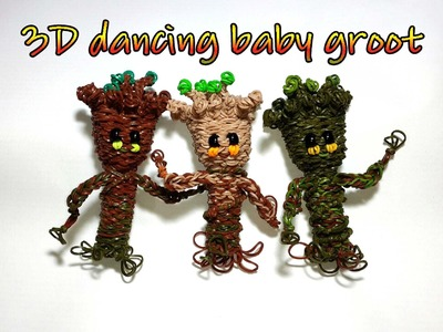 RAINBOW LOOM LARGE 3D DANCING BABY GROOT