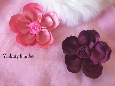 Ribbon flower for hair clip