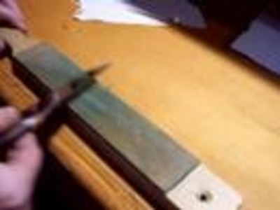 Sharpening a convex knife - dull to shaving sharp