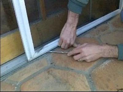 Sliding Screen Door Repair : Removing a Sliding Screen Door