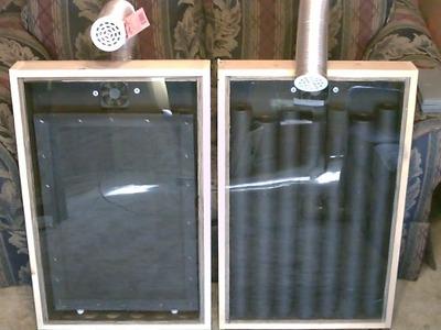 "Solar Air Heater! - The ""Screen Absorber"" Solar Air Heater! - Easy DIY (full instructions)"