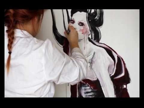Speed painting - Geisha abstract