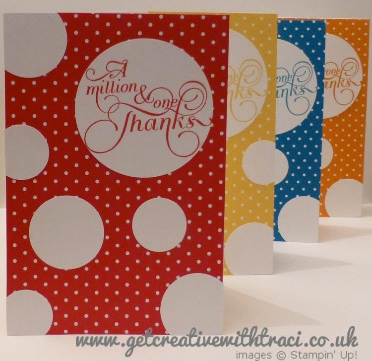 Stampin' Up! Circle Punch Mother's Day Card or Thank you card