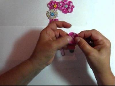 Tasteful Trim Fabric Flower