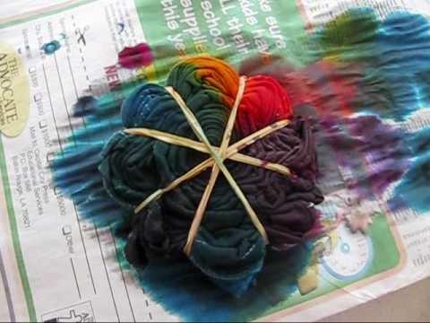 Tie Dye Part 2 spiral design