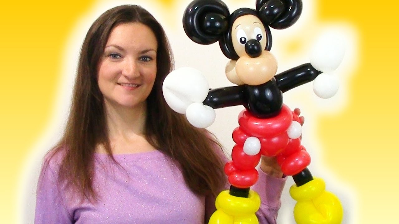 Watch me make a cartoon MOUSE parody with Balloons! Time-Lapse Balloon Animal!