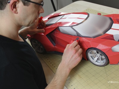 Building the 2016 Ford GT Inspired GT Legend Paper Supercraft