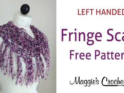 City Life Fringed Scarf Free Crochet Pattern by Maggie Weldon - Left Handed
