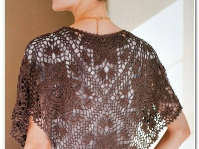 Crochet shrug| how to crochet vest shrug free pattern tutorial for beginners 35