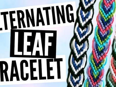 DIY Alternating Leaf.Leaves Friendship Bracelet Pattern Tutorial
