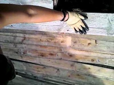 DIY deck repair. replacing nails to screws.