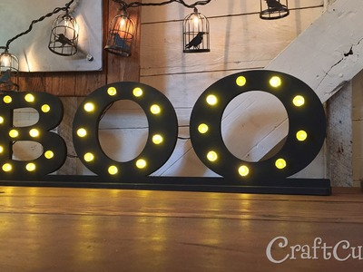 DIY Halloween Decor: Lighted BOO Letters