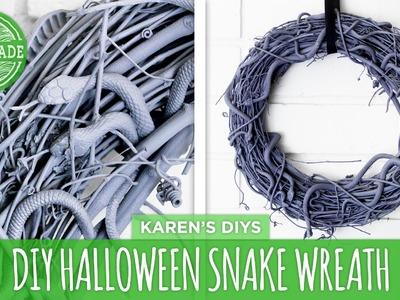 DIY Halloween Snake Wreath - HGTV Handmade