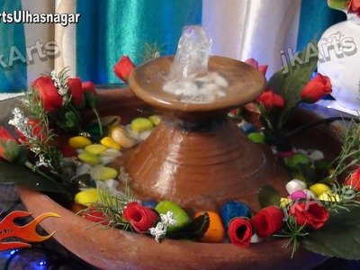 DIY How to make Table Top Fountain from easy available material - JK Arts 404