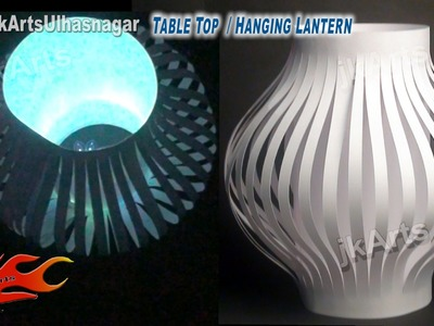 DIY Paper Lantern. Kandil Decoration | Table Top and Hanging | How to make | JK Arts 587