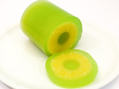 DIY Pineapple Jello by CakesStepbyStep