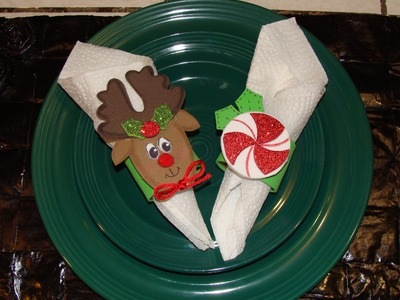 DIY-  PORTA SERVILLETAS NAVIDEÑO. Christmas napkin ring