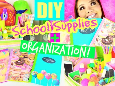 DIY School Supplies + Organization! | Back to School 2015