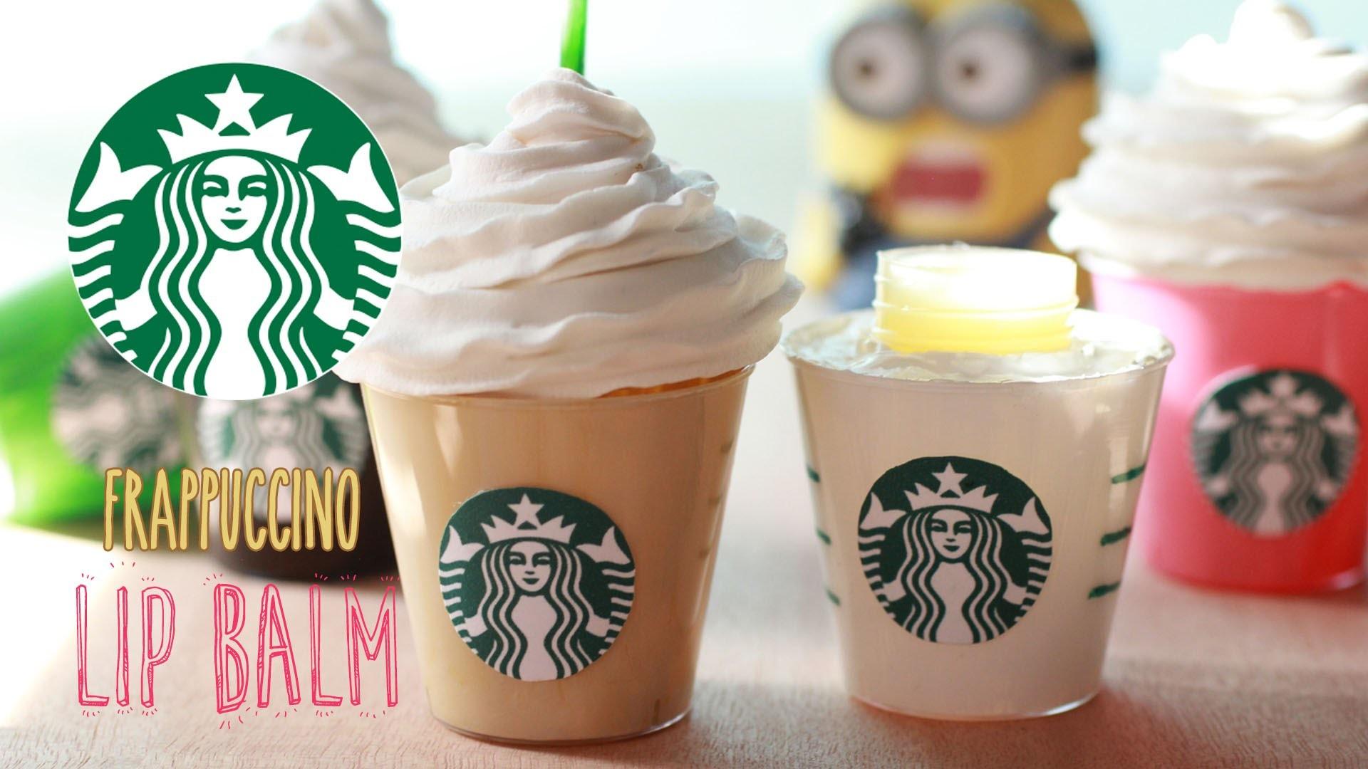 DIY Starbucks Frappuccino Lip Gloss - How To Make Sweet Coffee Lip Balm Recipe - Homemade