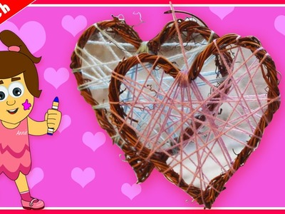 DIY Valentine's Day Special | Valentine's Wicker Heart Decoration | Korb Herzdekoration