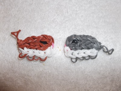 Dwarf hamster (or guinea pig) charm on the rainbow loom