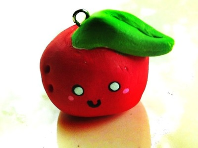 Easy kawaii apple charm tutorial:3