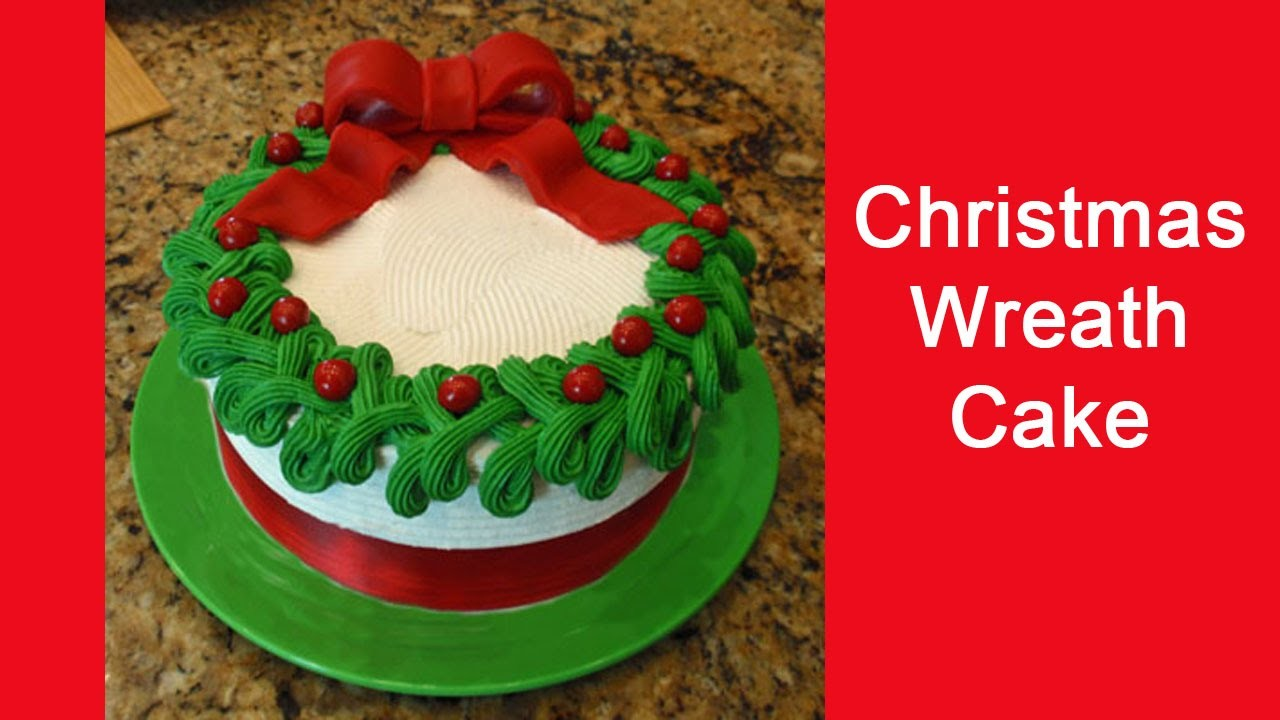 Easy to Make Christmas Wreath Cake