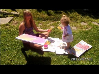 Finger Painting with a 15 Month Old :)