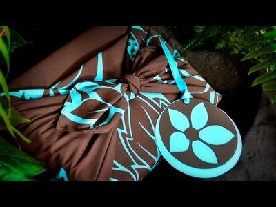 Furoshiki Fabric Gift Wrapping with Handmade Card