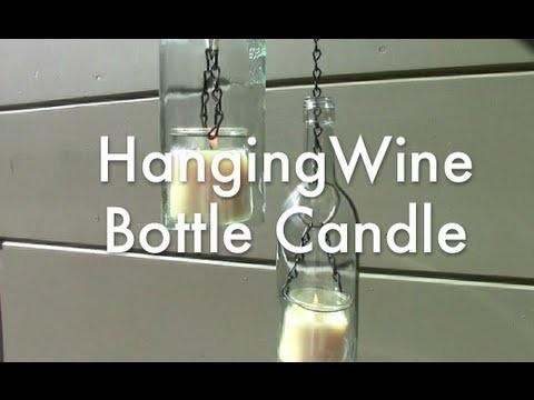 Hanging Wine Bottle Candle