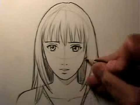 "How To Draw a ""Realistic"" Manga Face: Female"