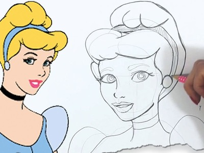 How to Draw Cinderella, Disney Princess by HooplaKidz Doodle | Drawing Tutorial