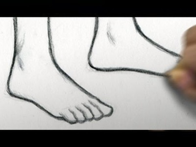 How to Draw Feet [RE-UPLOAD to restore audio]