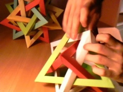 How-to fold a Five Intersecting Tetrahedra Dodecahedron 2