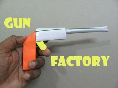 How to Make a Paper Caribbean Gun that shoots Rubber bands - Easy Tutorials