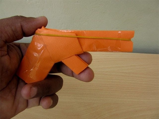 How to Make a Paper Gun that shoots Bands - Easy Tutorials