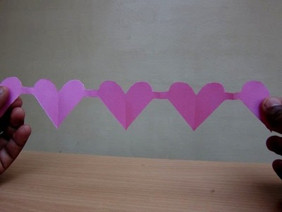 How to Make a Paper Heart Chain(Valentine's Day Spl) - Easy Tutorials