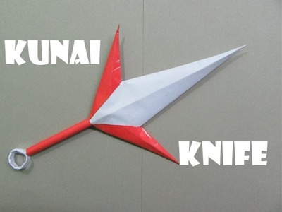 How to Make a Paper Throwing Kunai Knife - Easy Tutorials