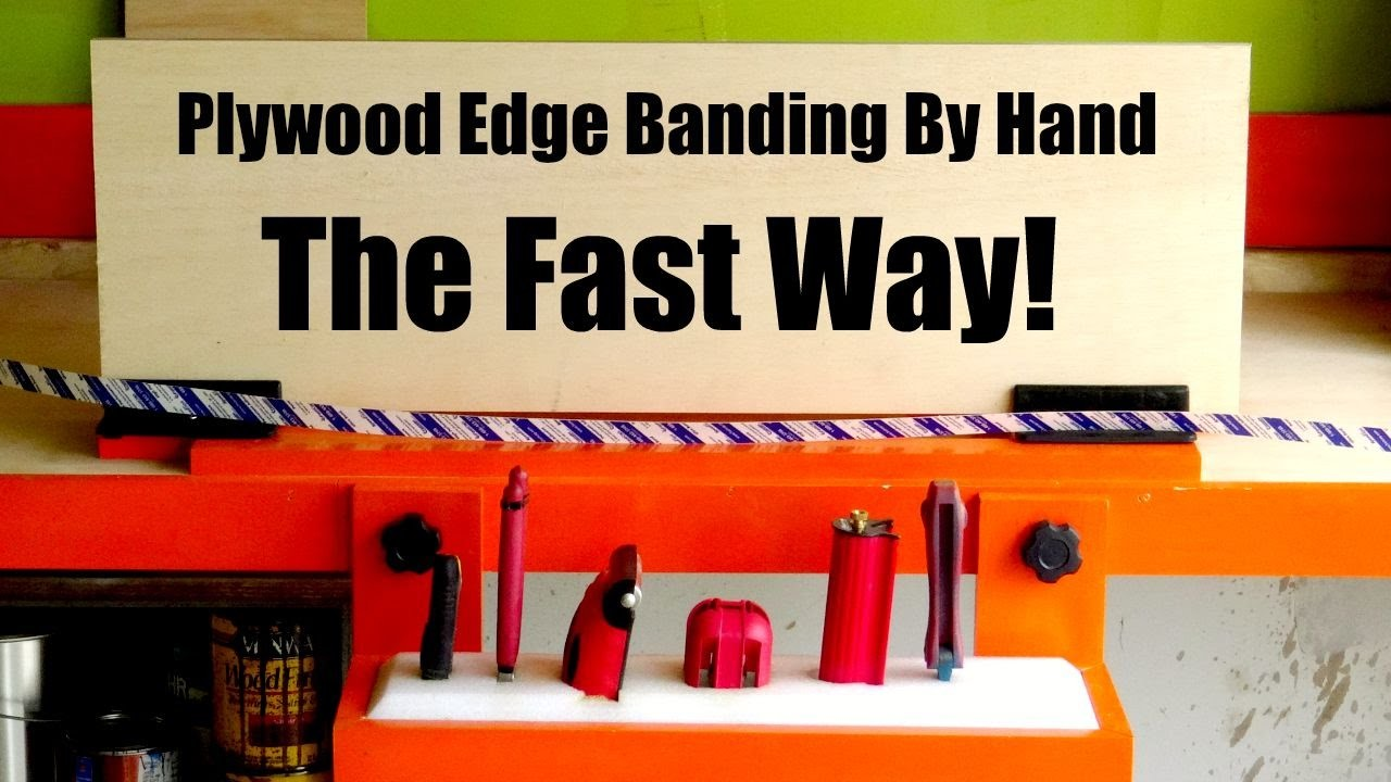 How To Make A Plywood Edge Banding Station and Tools that Make It Easy!
