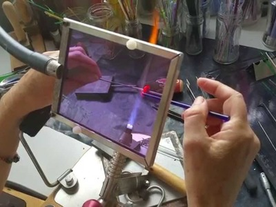 How to Make An Encased Bubble Lampwork Glass Bead